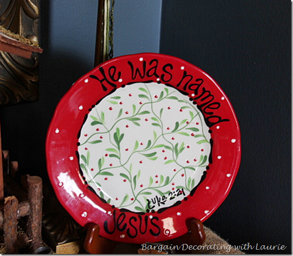 He Was Named Jesus Christmas Plate