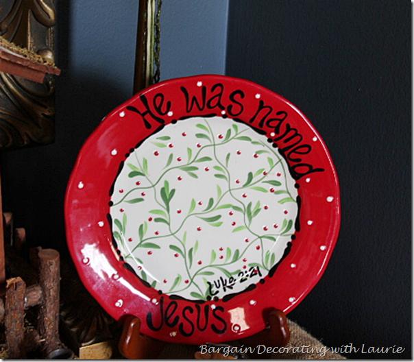 He Was Named Jesus Christmas Plate