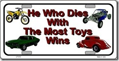 whoever_dies_with_the_most_to_bumper_bumper_bumper_sticker