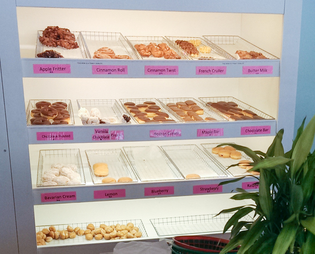 photo of the donuts display