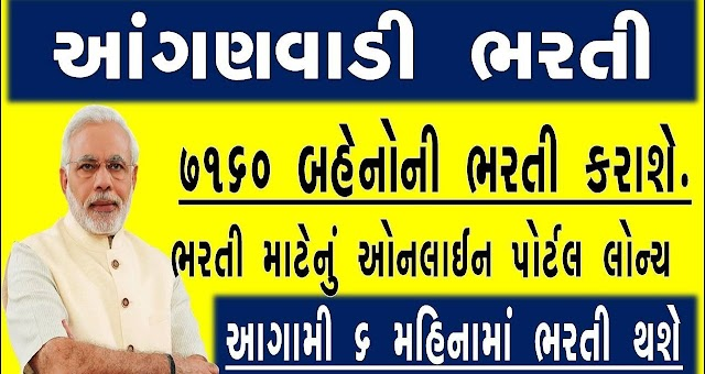 7160 Anganwadi Workers, Post Gujarat. Online apply for Various 7160 post