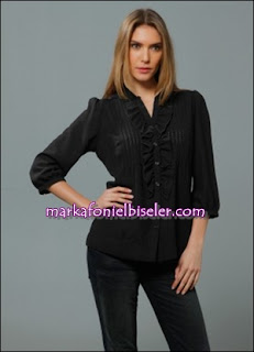 markafoni Marks and Spencer siyah gömlek modelleri