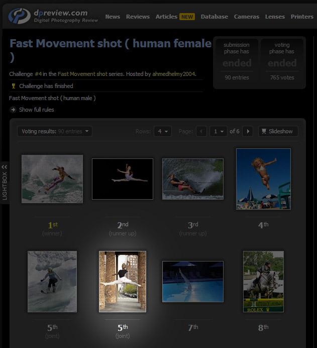Результат DPReview Challenge - Fast Movement Shot (human female)