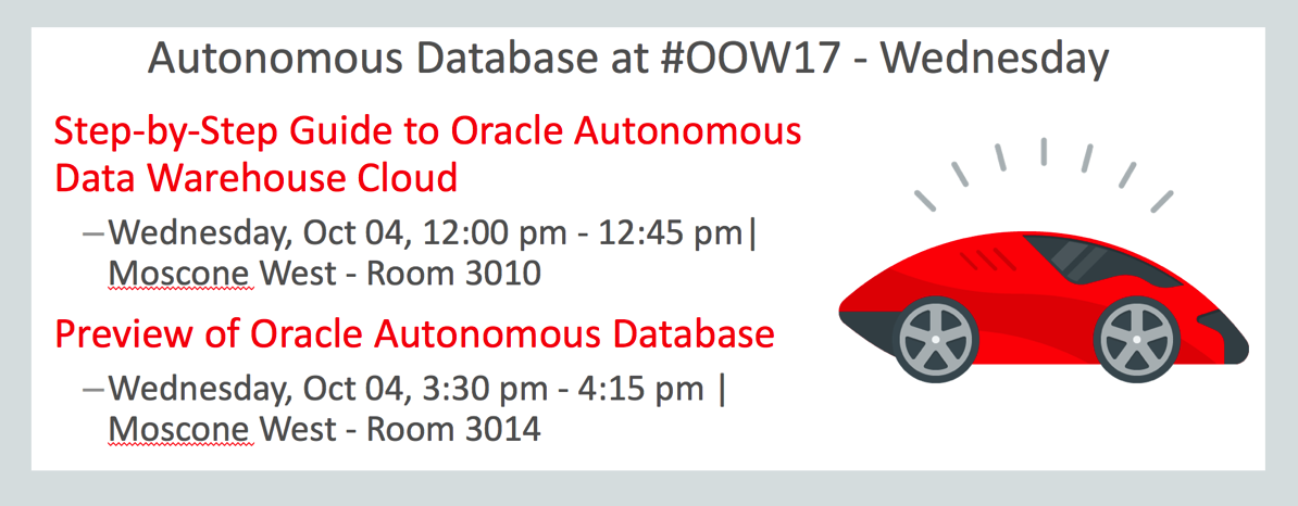 OpenWorld 2017: Must See Sessions for Day 4   Wednesday