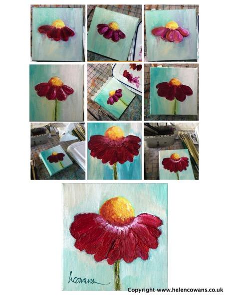 Pink flower composite