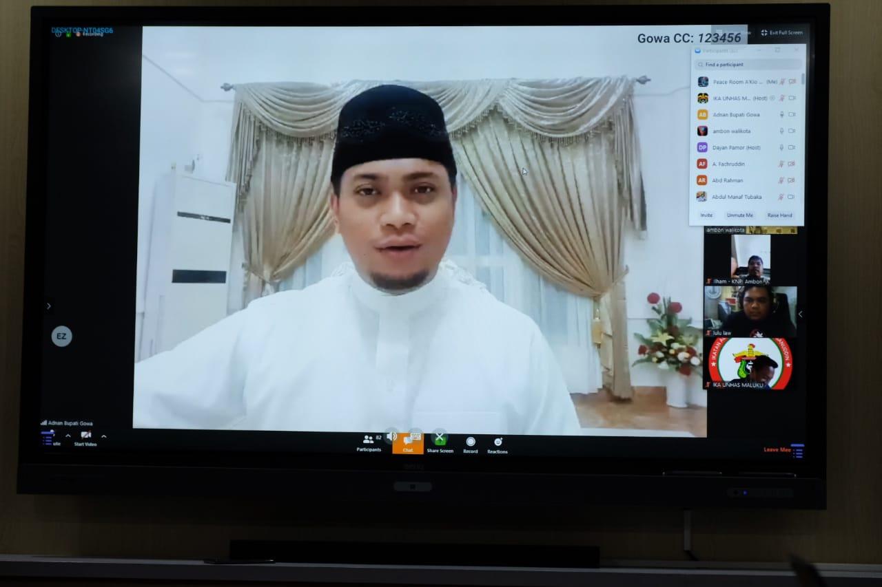 Bupati Adnan Berbagi Pola Pelaksanaan PSBB Ke Jajaran Pemkot Ambon