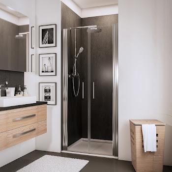 Portes de douche battantes en niche, 70, 80 ou 90 cm