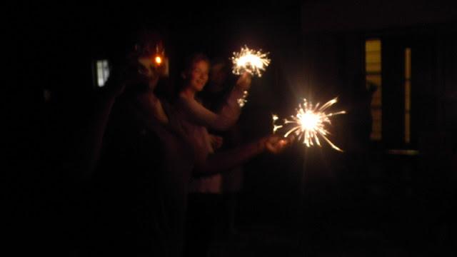 Christmas in Mochudi 2011 - Sparklers