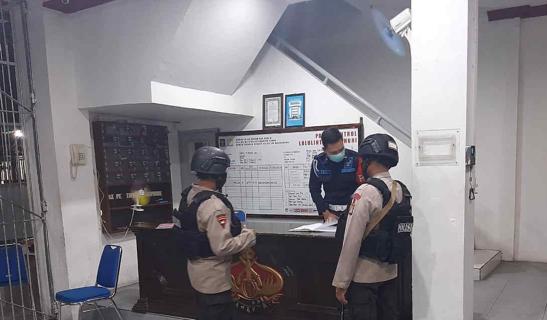 Waspadai Tahanan Kabur, Brimob Batalyon A Pelopor Patroli ke Lapas Kelas IIA Balikpapan
