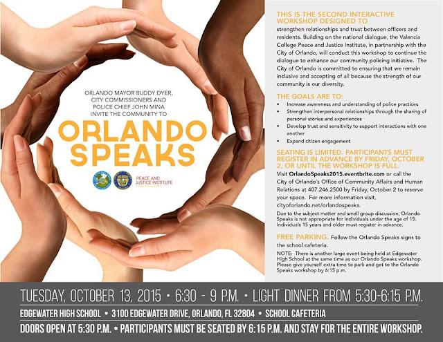 Orlando Mayor Buddy Dyer Hosts 2nd Orlando Speaks