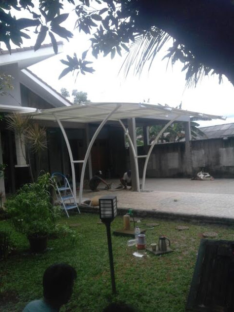 tenda membrane murah gudang canopy