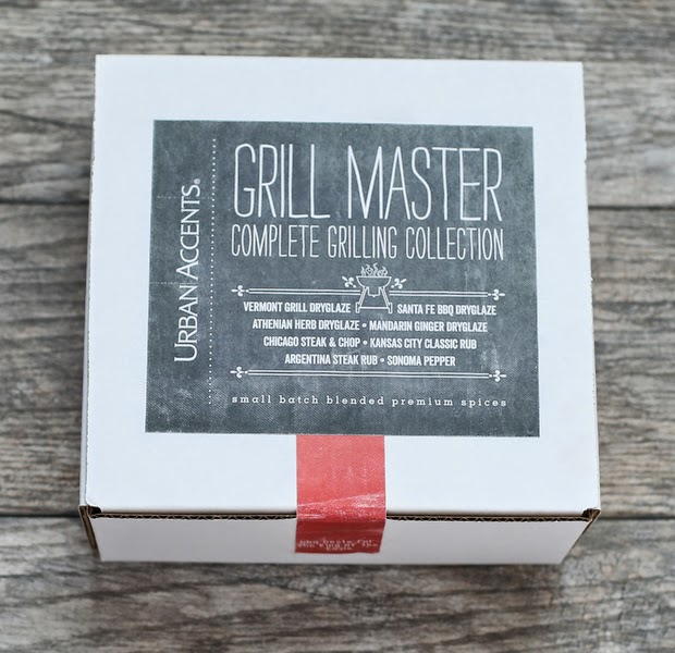 overhead photo of an Urban Accents grill master sample box