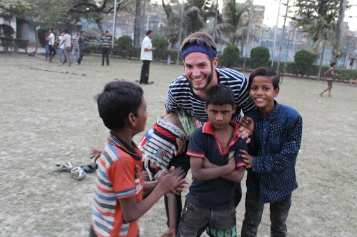 Outreach - Playing with kids