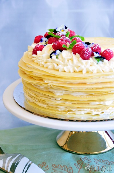 How to Make Vanilla Dream Mille Crêpe Cake  http://uTry.it