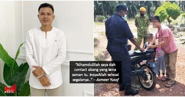 Bekas pemain Kedah, Azmeer Yusof bantu bayar kompaun lelaki ziarah kubur