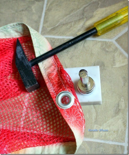 how to use eyelet grommet tool