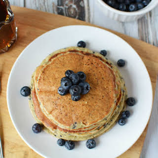 Lemon Blueberry Protein Pancakes.