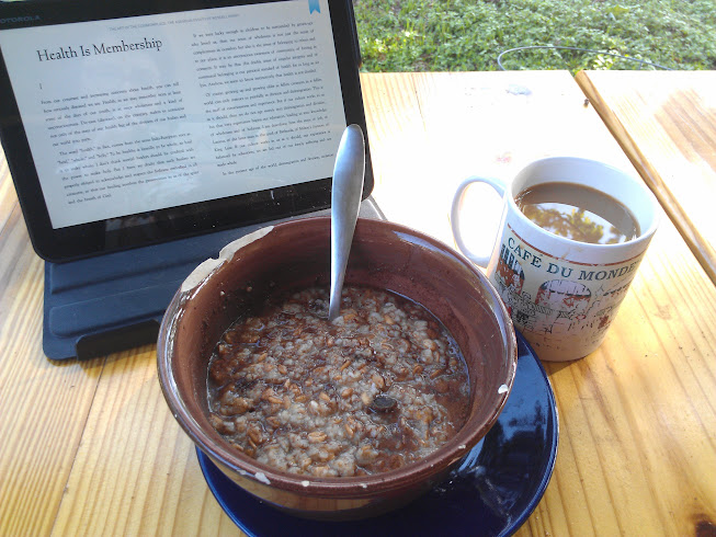 Oatmeal and Wendell Berry