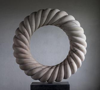 Corinth: PORTUGUESE MARBLE, 2015: W 65cm, H 65 cm, D 15 cm; SOLD