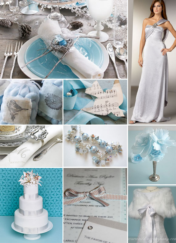 Adrian and jana make your own inspiration board for Baby blue wedding decoration ideas