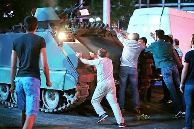 PERCUBAAN RAMPASAN KUASA  YANG DIGAGALKAN DI TURKEY