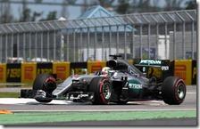Lewis Hamilton nelle prove libere del gran premio del Canada 2016
