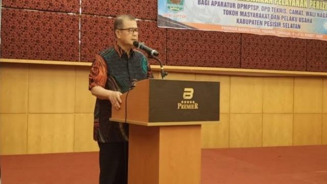 Wagub Nasrul Abit Imbau Masyarakat Pessel Tak Alergi dengan Investor.