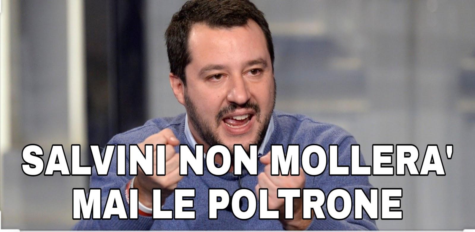 Salvini: A fine carriera mi candidero' a sindaco di Milano. Poltronaro fino alla fine.