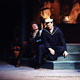 Mark Spickerman and Gerry Stryker in LOOK HOMEWARD, ANGEL (R) - March 1994.  Property of The Schenectady Civic Players Theater Archive.