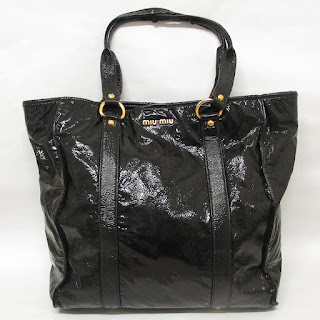 Miu Miu Patent Leather Black Tote