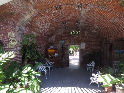 Inside rooms at Garden Club / Fort West Martello