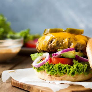 Chipotle Cheddar Burger with JalapeñOs and Chipotle Lime Mayo Recipe