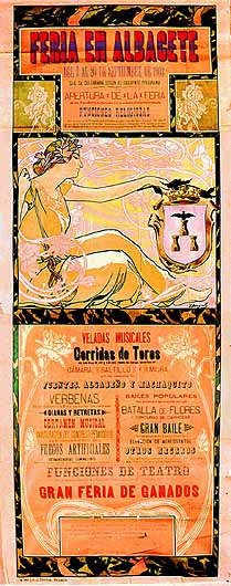 Cartel Feria Albacete 1903