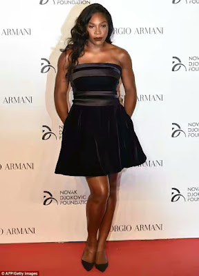 Image result for Serena Williams Sizzles In LBD At Charity Gala