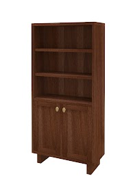 Walnut Wooden Door Bookshelves