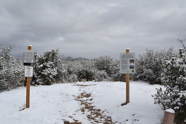 trailhead under snow
