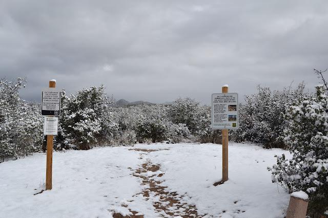 trailhead under snow