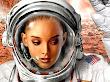 Greeting Of Girl Astronaut