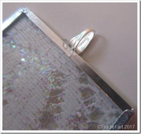 memory glass microscope slide tree decorations lace