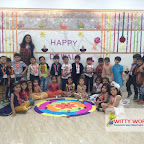 Diwali Celebrated by Jr. Kg Section at Witty World, Chikoowadi 2017-18.