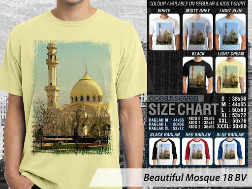 Kaos Muslim Islam Beautiful Mosque 18 distro ocean seven