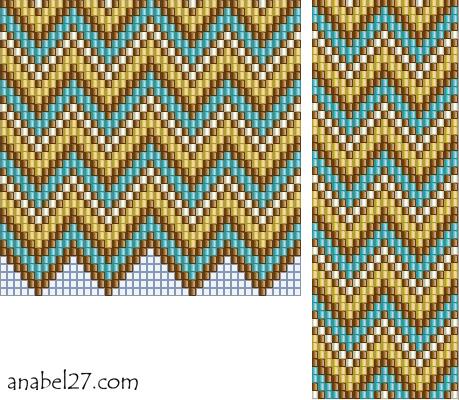 гердан гайтан схема ткачество free bead loom pattern