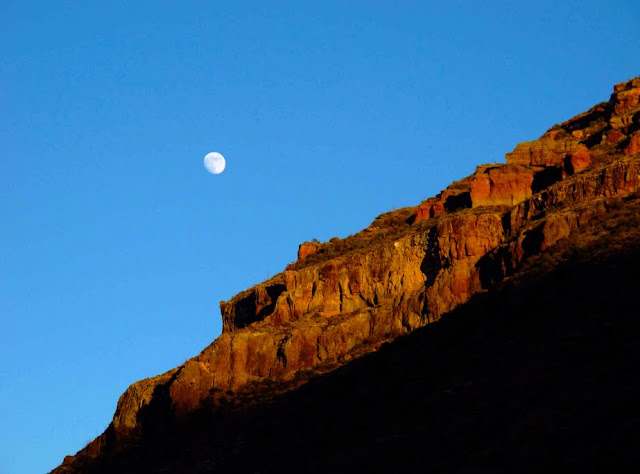 Moonrise at Chisos Basin. Lassoing the Sun: A Year in America's National Parks