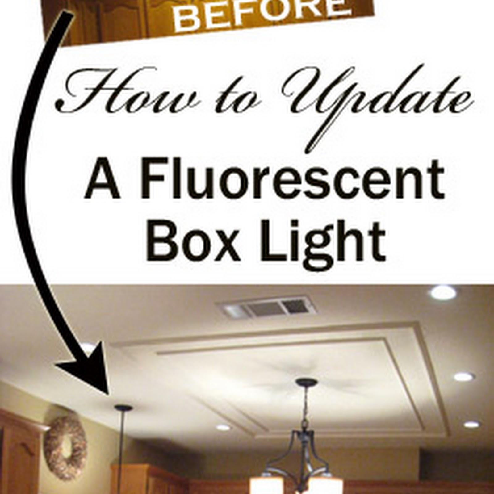 Fluorescent Light Fixture Box: Removing A Fluorescent Kitchen Light Box
