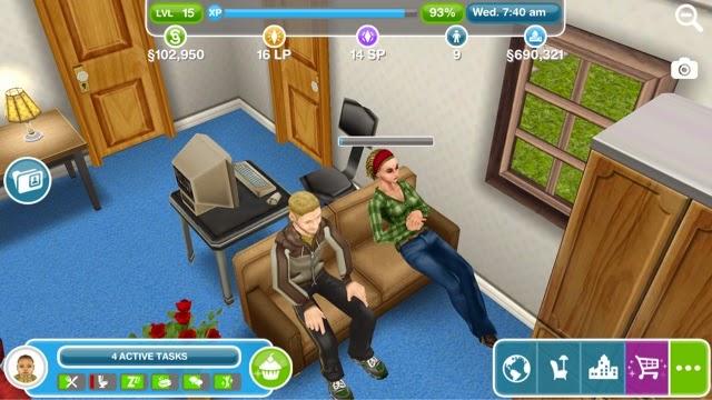 Sims Freeplay Lunar New Year Day 5 ~ Greenoid Gemzicle