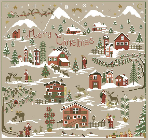 Christmas Village Counted Cross Stitch Patterns And Charts