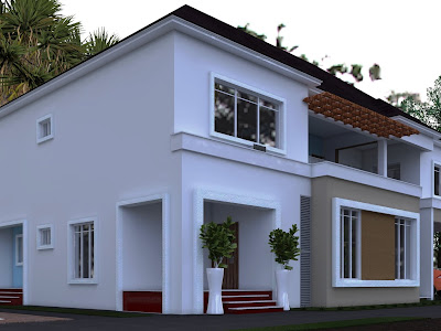 An Architectural design of an  eight bedroom duplex.