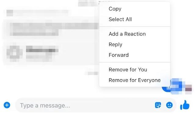 حذف مجمع Facebook Messenger Mac