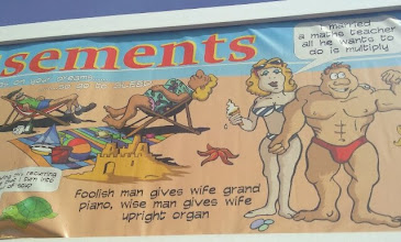 Photo: That did say amusements. The naughty postcards facade suffering from my camera skills..