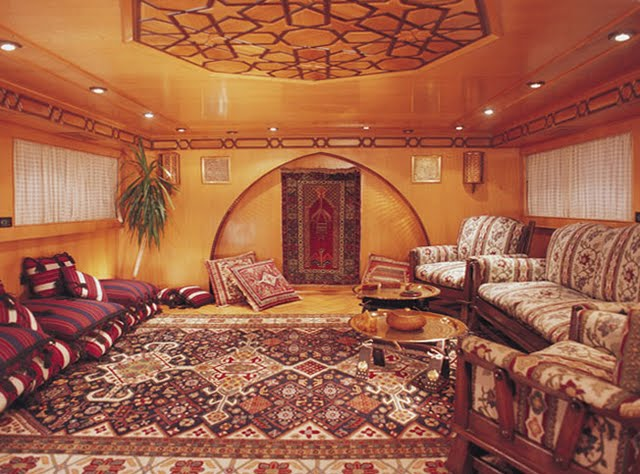 Oman - interior of royal yacht